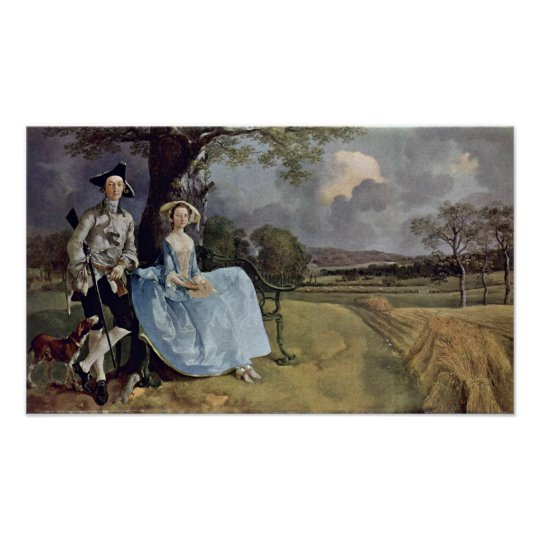 Mr. and Mrs. Andrews by Thomas Gainsborough Poster