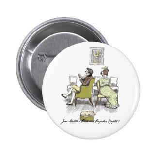 Mr and Mrs Bennet P&P Jane Austen 2 Inch Round Button