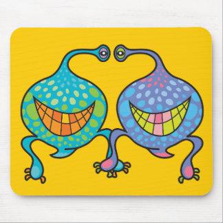 Mr. and Mrs. Blob Cartoon Fun Alien Gift Mousepad
