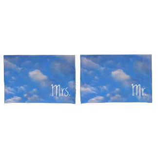 Mr. and Mrs. Cloudy Sky Pillowcase