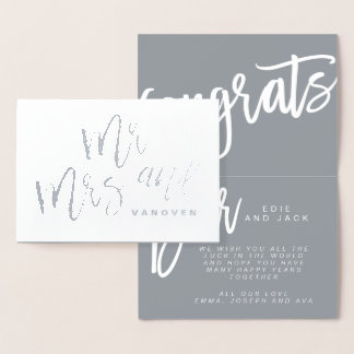 MR AND MRS CONGRATULATIONS CARD