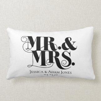 Mr. and Mrs. design, vintage, elegant style. Lumbar Pillow
