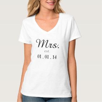Mr. and Mrs. est. customized matching shirt