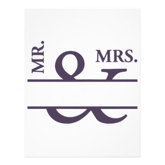 Mr And Mrs Letterhead Template