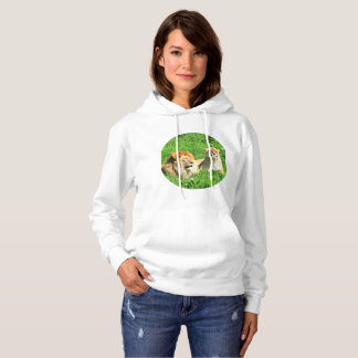 Mr and Mrs Lion Laying In The Grass Hoodie