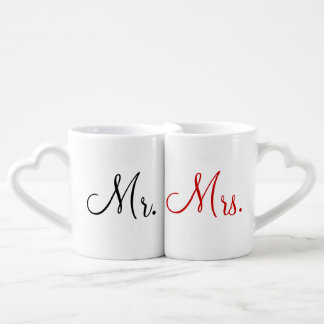 Mr. and Mrs. Lovers' Mug Set