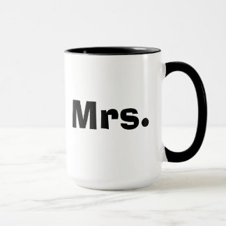 Mr and Mrs mugs - black and white couples mug set