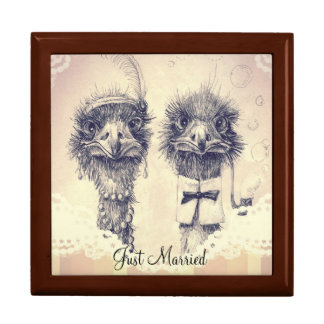 Mr. and Mrs. Ostrich Gift Box
