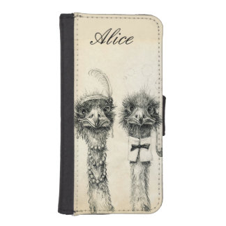Mr. and Mrs. Ostrich iPhone SE/5/5s Wallet Case