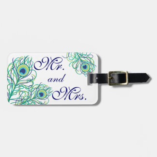 Mr and Mrs Peacock Luggage Tag