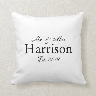 Mr. and Mrs. Personalized Wedding Pillow2 Throw Pillow