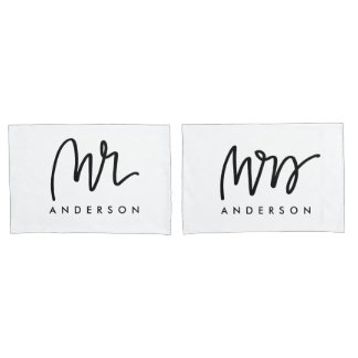 Mr and Mrs | Pillow Cases Pillowcase