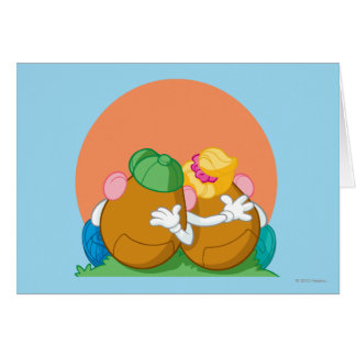 Mr. and Mrs. Potato Head at Sunset Card
