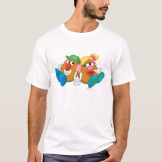 Mr. and Mrs. Potato Head Laying Down Holding Hands T-Shirt