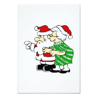 Mr and Mrs Santa Claus Card