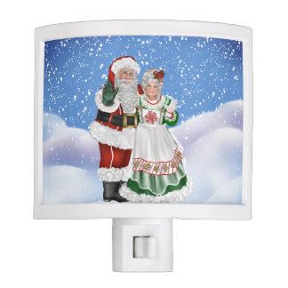 Mr. and Mrs. Santa Claus Night Light