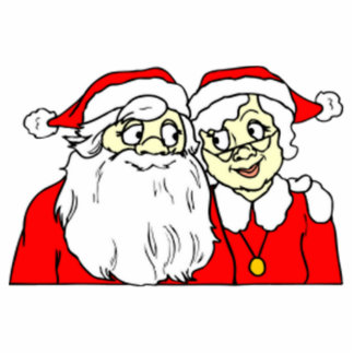 Mr and Mrs Santa Claus Acrylic Cut Out