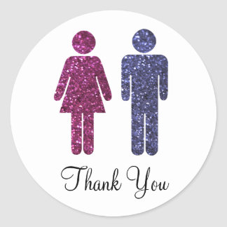 Mr. and Mrs. Thank You Round Sticker