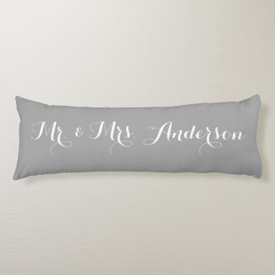 Mr. and Mrs. Wedding Custom Bride and Groom Name Body Pillow