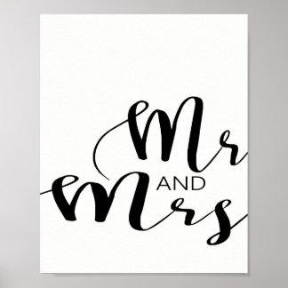 Mr And Mrs Wedding Print