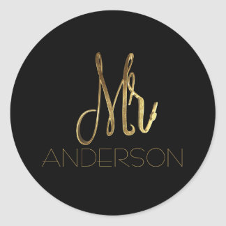 Mr. Anderson Black Gold Mister Typography Seal
