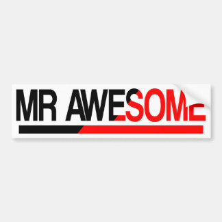 Mr Awesome Bumper Sticker