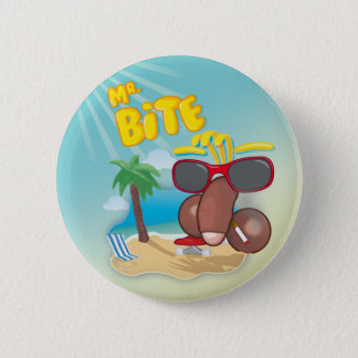 Mr. Bite Badge 2 Inch Round Button