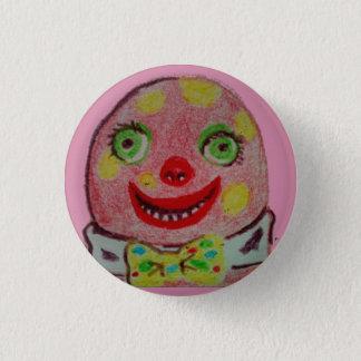Mr Blobby crayon badge 1 Inch Round Button
