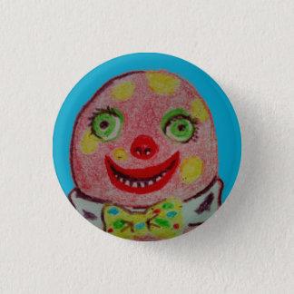 Mr Blobby crayon badge Blue 1 Inch Round Button