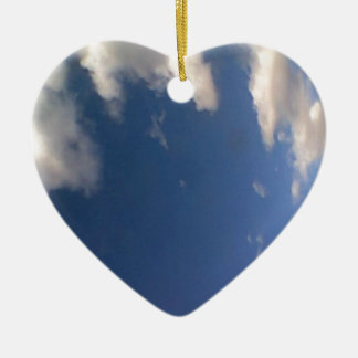 Mr. Blue Sky Ceramic Ornament