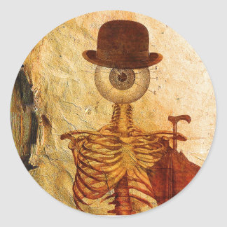 Mr Bone Classic Round Sticker