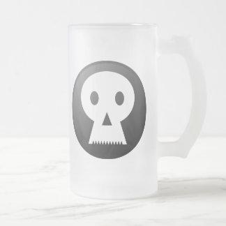 Mr. Bones 16 Oz Frosted Glass Beer Mug
