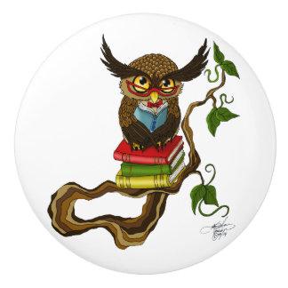 Mr. Books Ceramic Knob