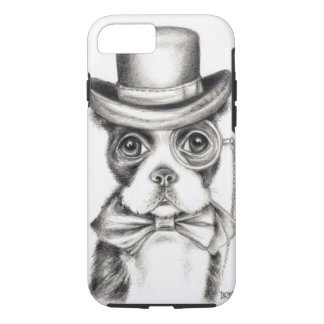 Mr Boston Terrier BW iPhone 7 Case