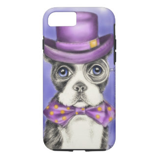 Mr Boston Terrier Purple iPhone 7 Case