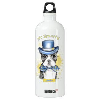 Mr Boston Terrier Watercolor Esquire Water Bottle