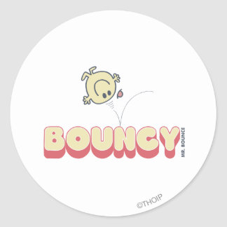 Mr. Bounce Bouncing On His Head Classic Round Sticker