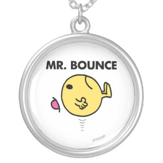 Mr. Bounce | Unhappy Bouncing Silver Plated Necklace