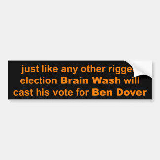 Mr. Brain Wash Bumper Sticker