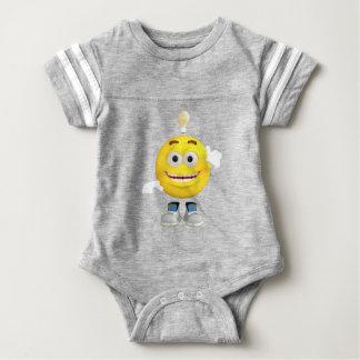 Mr. Brainy the Emoji that Loves to Think Baby Bodysuit