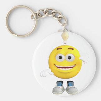 Mr. Brainy the Emoji that Loves to Think Basic Round Button Keychain
