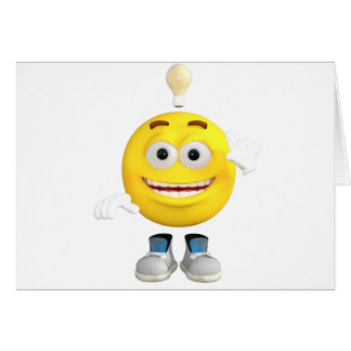 Mr. Brainy the Emoji that Loves to Think Card