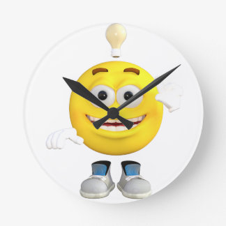 Mr. Brainy the Emoji that Loves to Think Clocks