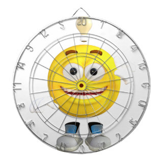 Mr. Brainy the Emoji that Loves to Think Dartboard