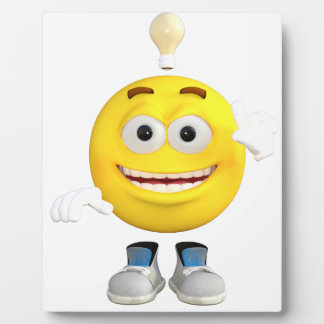 Mr. Brainy the Emoji that Loves to Think Display Plaque