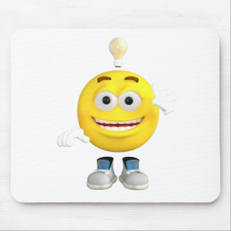 Mr. Brainy the Emoji that Loves to Think Mouse Pad