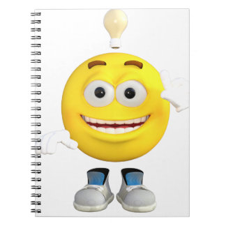 Mr. Brainy the Emoji that Loves to Think Notebooks