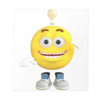 Mr. Brainy the Emoji that Loves to Think Notepad