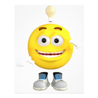 Mr. Brainy the Emoji that Loves to Think Personalized Letterhead