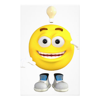 Mr. Brainy the Emoji that Loves to Think Stationery Paper
